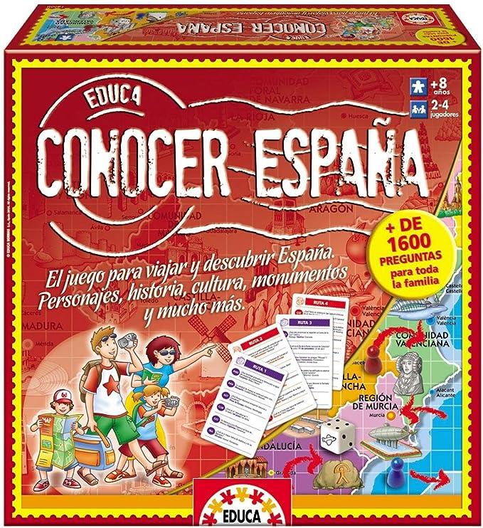 Educa Borrás-Conocer España Juego de Mesa 14668: Amazon.es: Juguetes y juegos