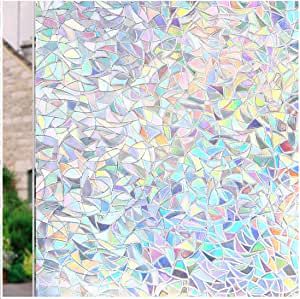 Details about  /3D Gradient Stone Brick ZHUA280 Window Film Print Sticker Cling Stained Glass UV