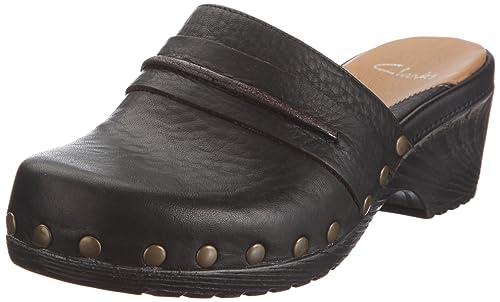 b7080490 Clarks Gwyneth Cilla 20339029 - Zuecos de cuero para mujer, color negro,  talla 41: Amazon.es: Zapatos y complementos
