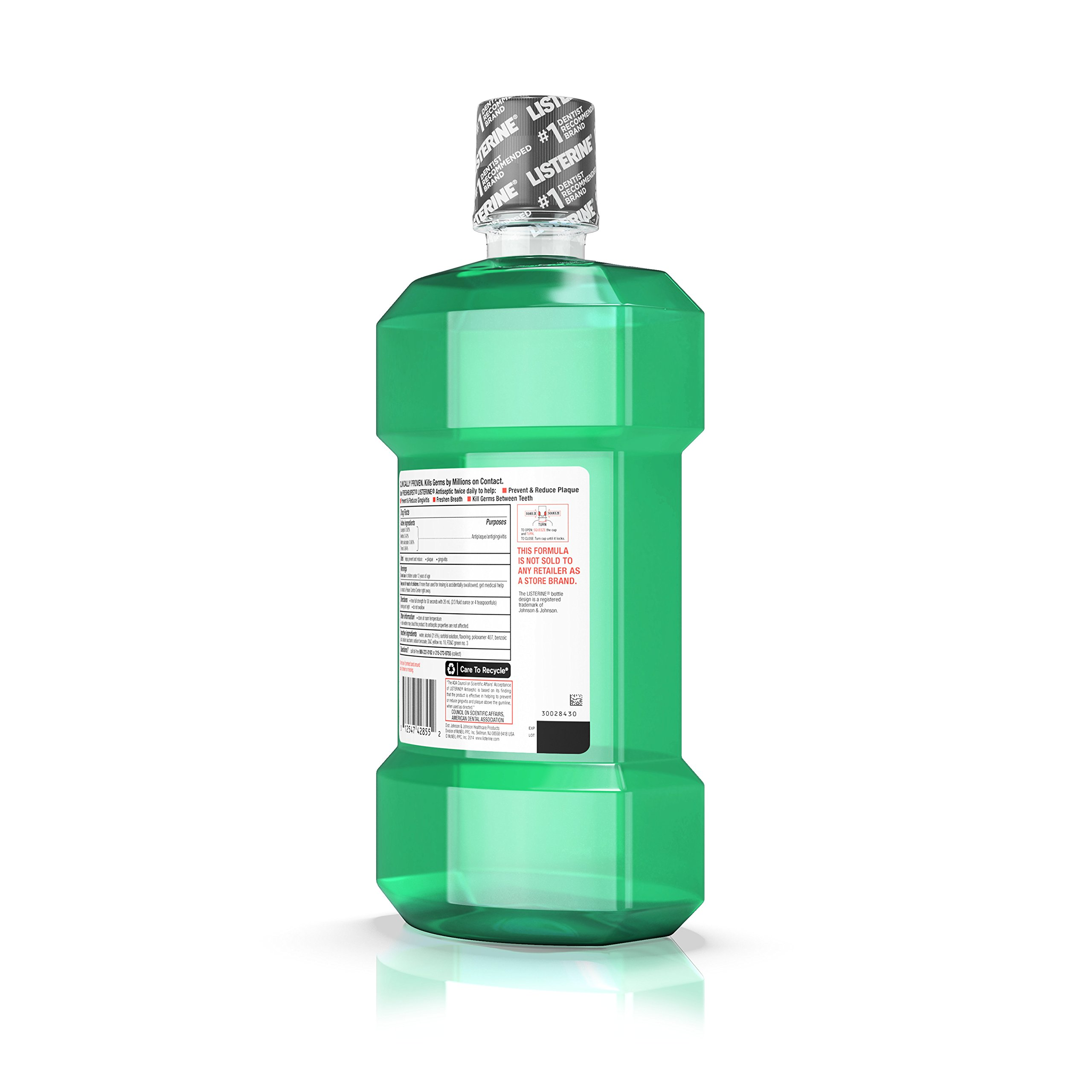 Listerine Freshburst Antiseptic Mouthwash For Bad Breath, 1.5 L, (Pack of 6) by Listerine (Image #7)