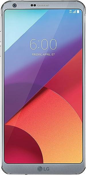 LG G6-32GB Unlocked GSM Android Phone w/ Dual 13MP Cameras - Ice Platinum