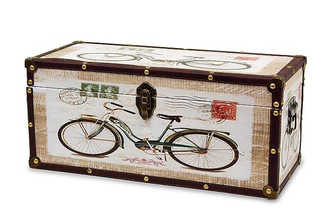 BUAR ARTESANOS Baul de Madera para Almacenamiento Bici (50x22x22 cm.)