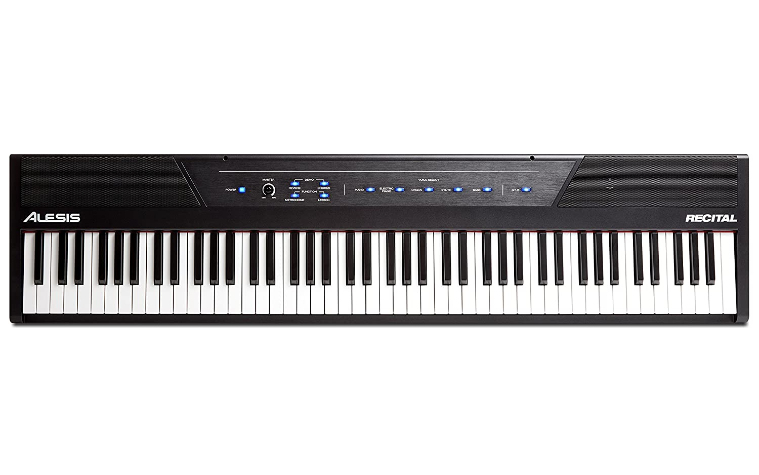 alesis recital 88 key beginner digital piano keyboard with full size ebay. Black Bedroom Furniture Sets. Home Design Ideas