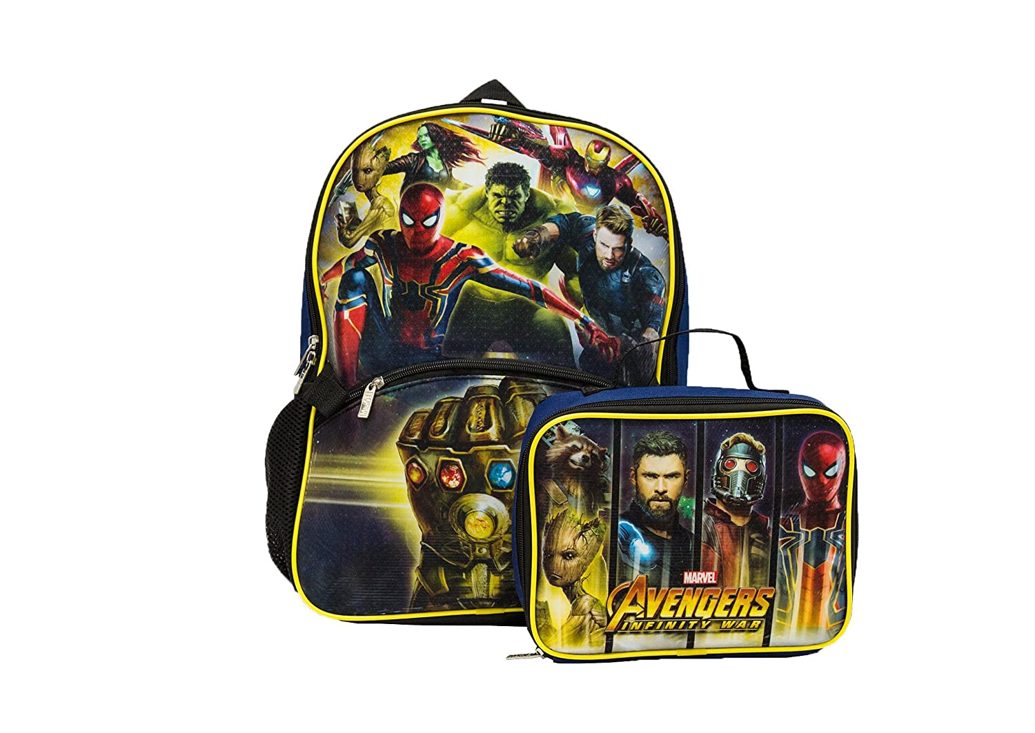Marvel Avengers Infinity War Backpack With Lunch Kit Backpack