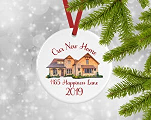 Lplpol Keepsake Our New Home Christmas Ornaments 2019, New Address, Housewarming Gift, Realtor Gift, Closing, Client 3 inches