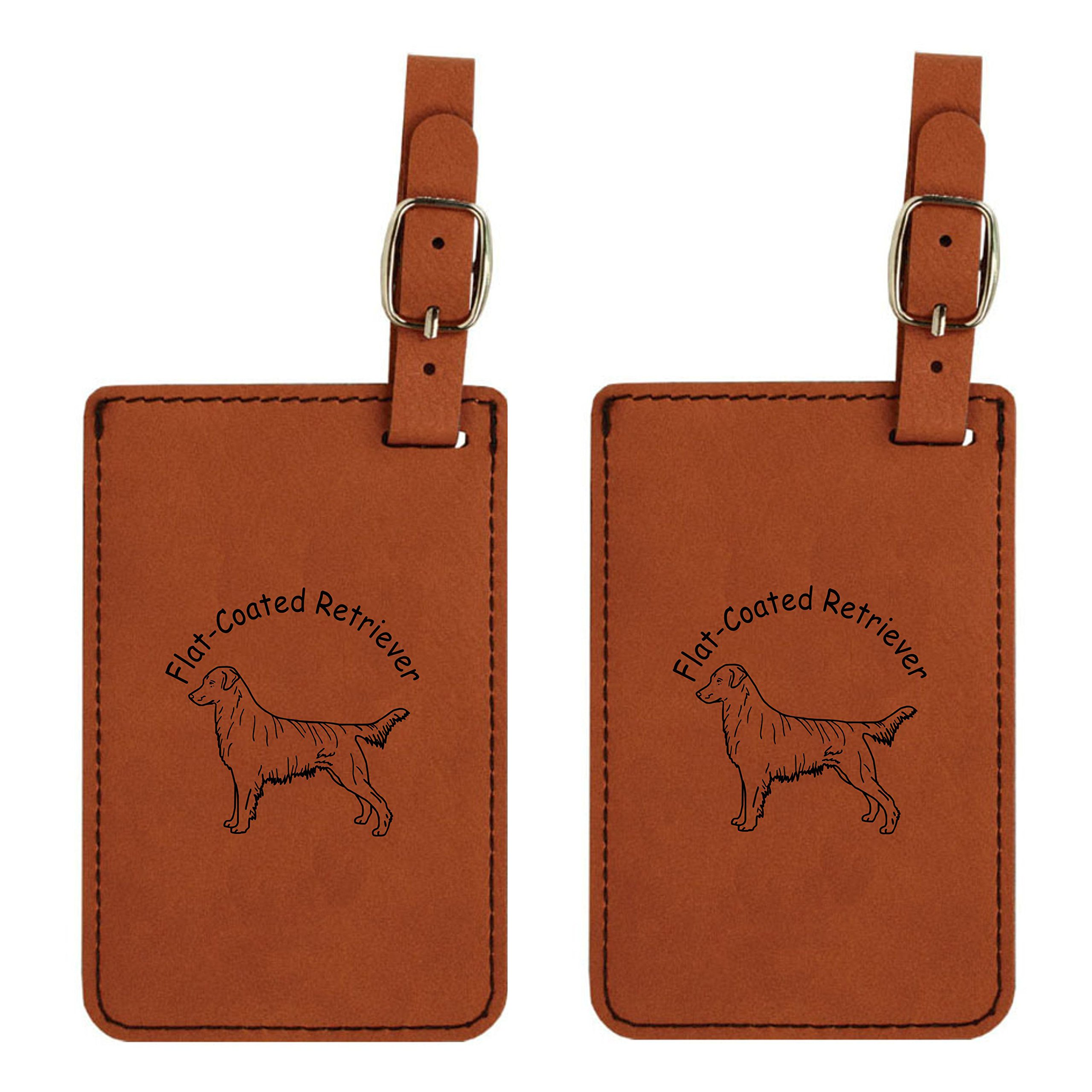 Flat Coat Retriever Standing Luggage Tag 2 Pack L3193-2