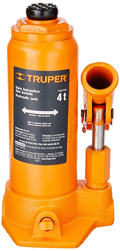 Amazon.com: TRUPER GAT-4 4-Ton Hydraulic Bottle Jacks 15 5 ...