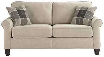 Ashley 37 in. Faux Wood Loveseat in Fossil