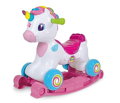 Cavallo A Dondolo Chicco Rosa.Clementoni Ma Unicorno A Dondolo 52325 Multicolore