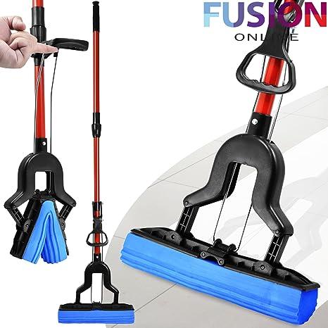 Mopa con esponja superabsorbente para limpieza de suelos de tarima ...