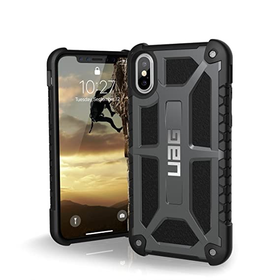 best service 39202 d2797 URBAN ARMOR GEAR UAG iPhone Xs/X [5.8-inch Screen] Monarch Feather-Light  Rugged [Graphite] Military Drop Tested iPhone Case