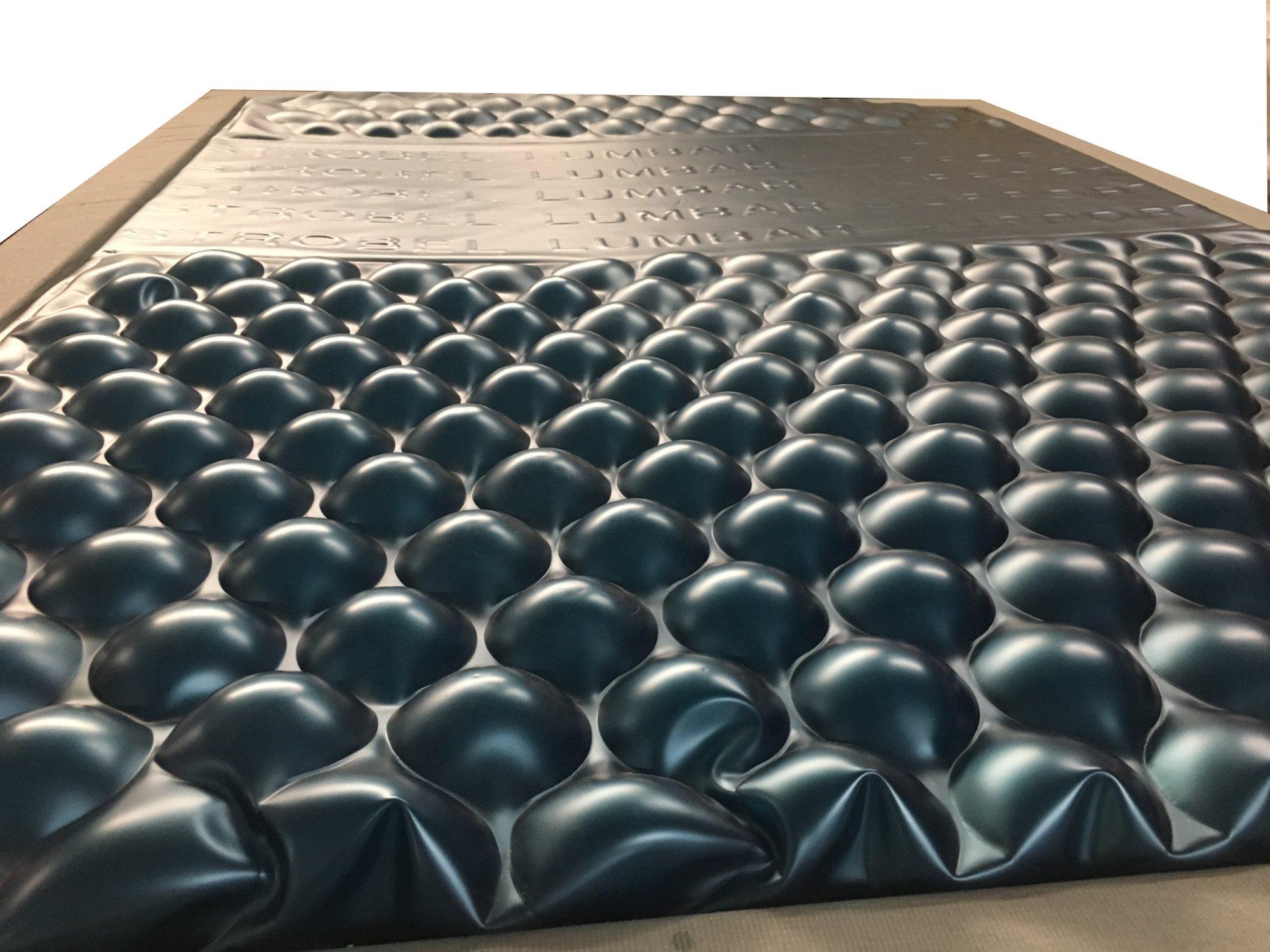 Strobel Organic Aspen Complete Waterbed 5 Board Vinyl Upholstered Black Vinyl King by Strobel Organic