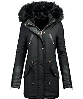 834d4440ed69 Golden Brands Selection Damen Winter Jacke Parka Warmer Winter Mantel  Winterjacke lang Kunstleder B276