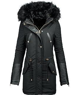 28324cfa96bc1e Golden Brands Selection Damen Winter Jacke Parka Warmer Winter Mantel  Winterjacke lang Kunstleder B276