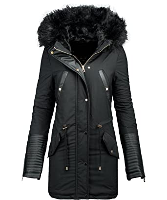 new product 1e3d0 ed846 Golden Brands Selection Damen Winter Jacke Parka Warmer Winter Mantel  Winterjacke lang Kunstleder B276