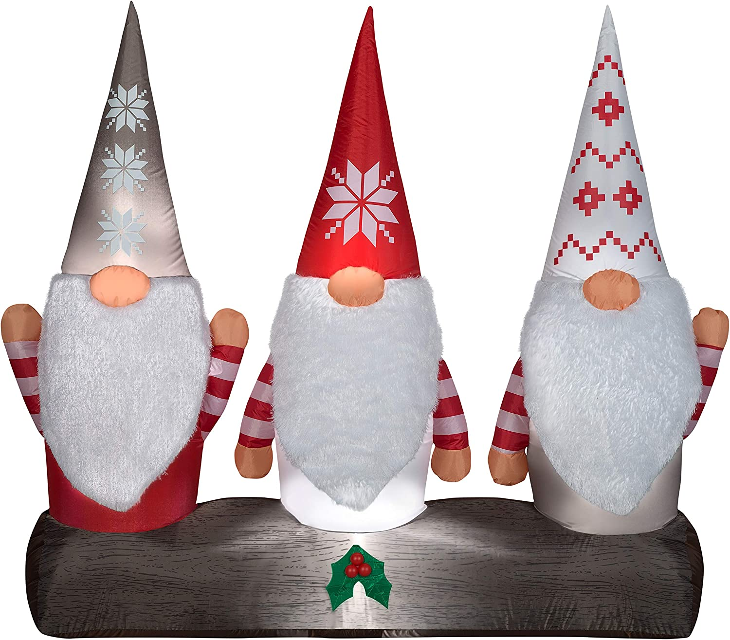 Gemmy 115877 Gnomes Inflatable, Multi