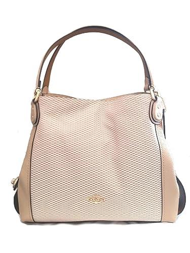 8b454b21010 COACH Legacy Jacquard Edie 31 Medium Shoulder Bag (Beechwood ...