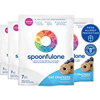SpoonfulOne Allergen Introduction Oat Crackers | Protection For Kids From Developing...