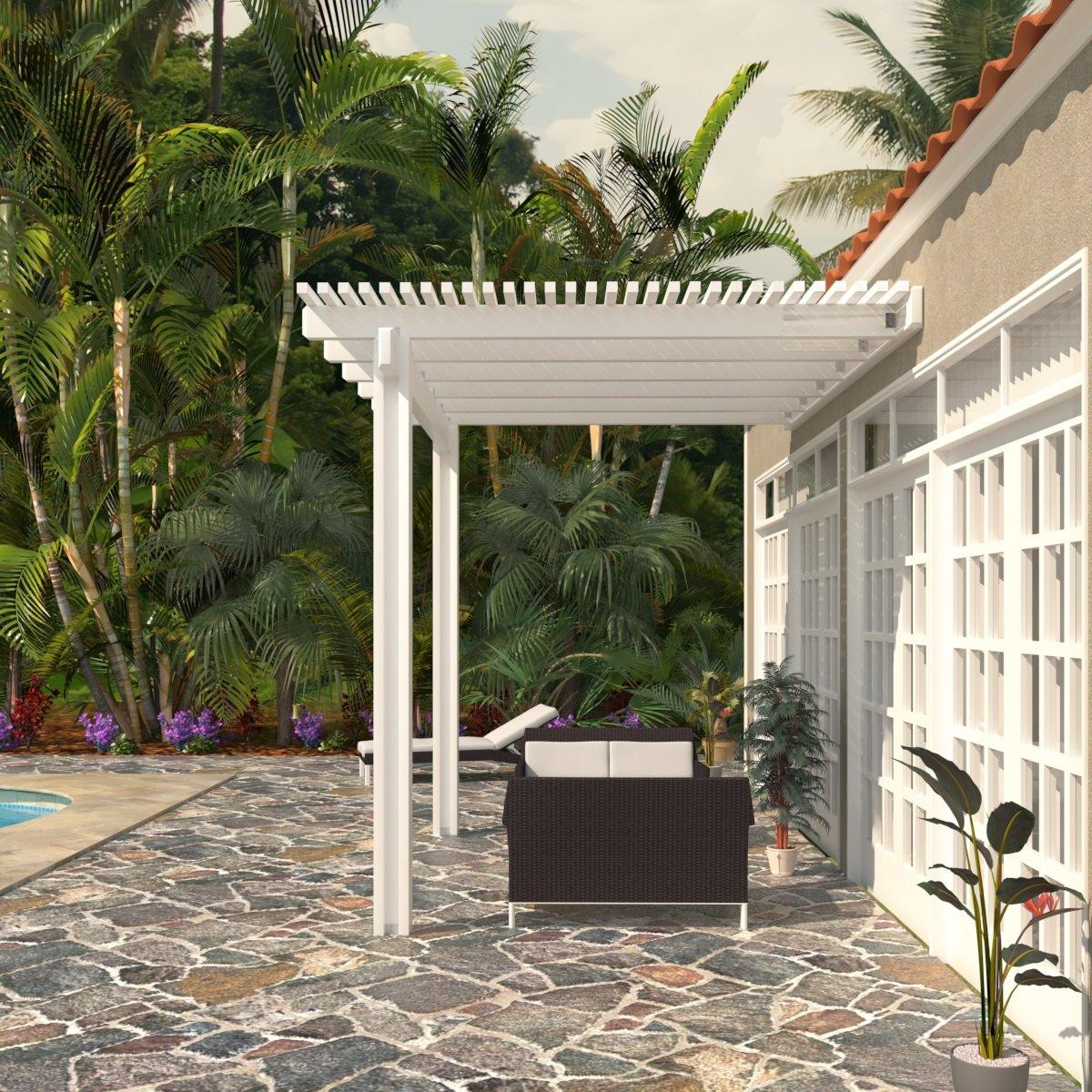 Heritage Patios Aluminum Pergola - 8 ft. x 12 ft. (White)
