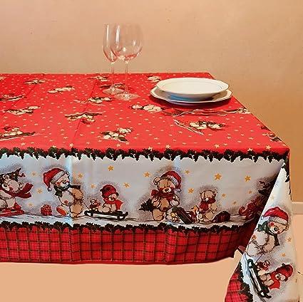 Idee Regalo Natale In Cucina.Tovaglia Antimacchia Di Natale Goldenhome No Stiro Coloratissima Idea Regalo Natale Misura 140 X 235 Cm Modello Orsetti