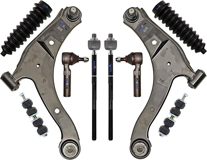 6 Piece Front Suspension Kit for Pt Cruiser and Chrysler Neon Control Arms Rods