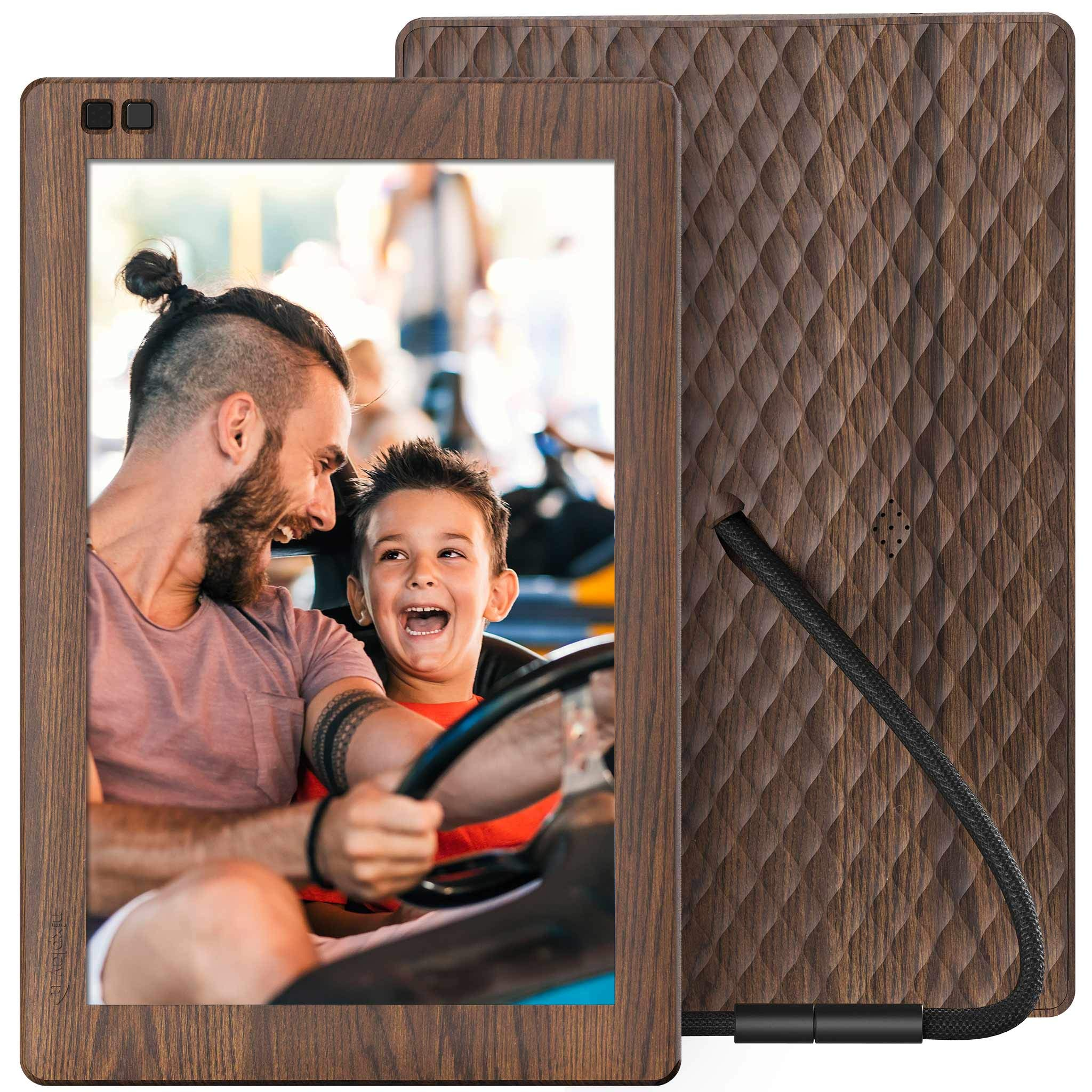 Nixplay Seed 10.1 Inch Widescreen Digital WiFi Photo Frame W10B Wood Effect - Digital Picture Frame with IPS Display and 10GB Online Storage, Display and Share Photos via Nixplay Mobile App by nixplay