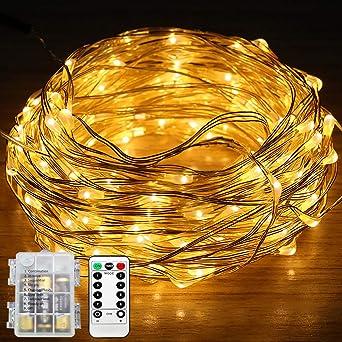 Weihnachtsbeleuchtung Led Batterie.100er Kupferdraht Lichterkette Batterie Ysdroyal 10m 8 Modi Weihnachtsbeleuchtung Wasserdichte Led String Lights Fairy Lights Ideal Für Diy