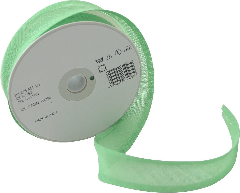 Inastri - Cinta bies de algodón, 25/5/ 5 mm, Color Verde Manzana ...