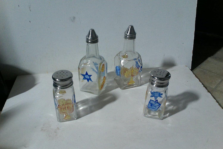 Chanukah 4 piece condiment set