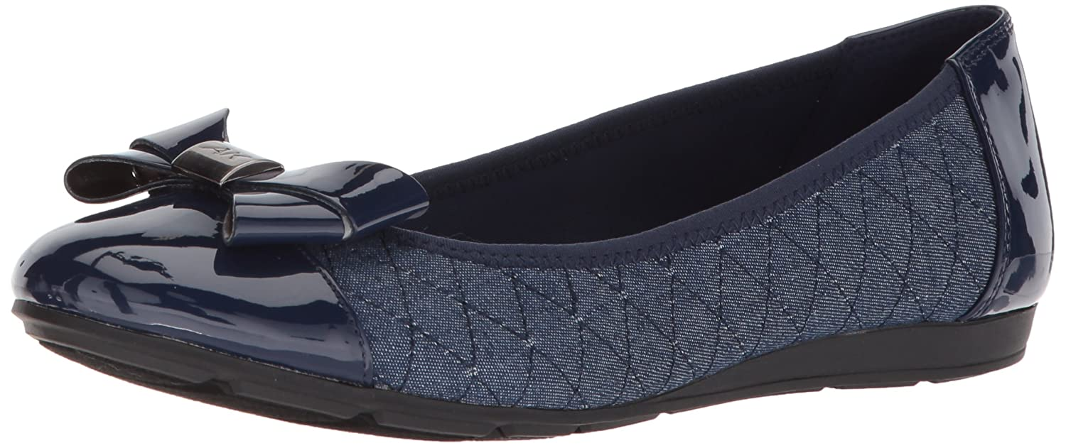 Anne Klein Women's Alphia Fabric Ballet Flat B07864X27T 6.5 B(M) US|Blue/Multi Fabric