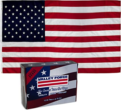 Valley Forge Betsy Flags 2 1//2 ft x 4 ft Banner Sleeved Flag Proudly Made In USA