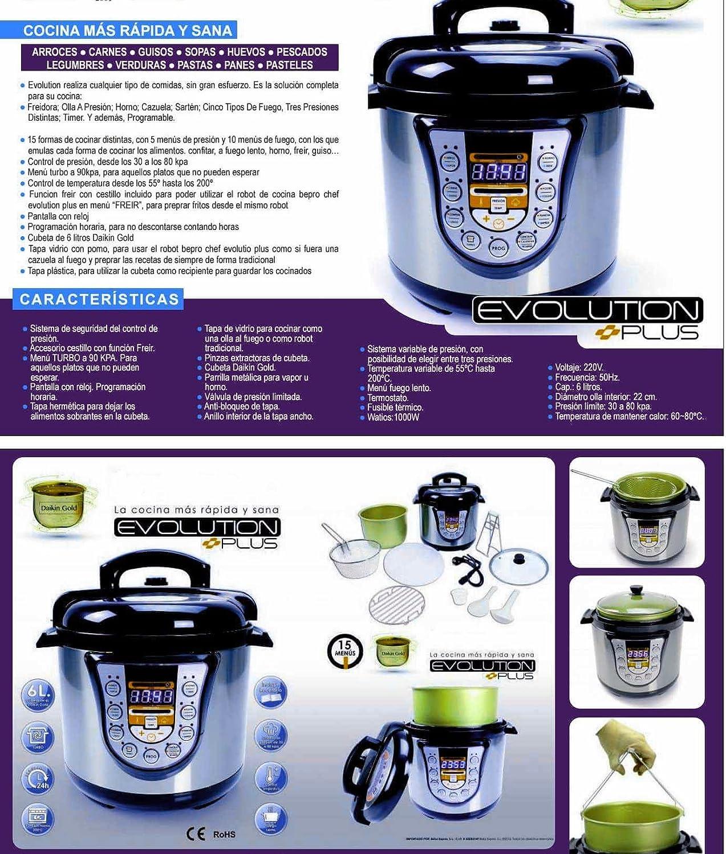 Cocina programable Cocimax Evolution de 6 litros.Turbo, freír y ...