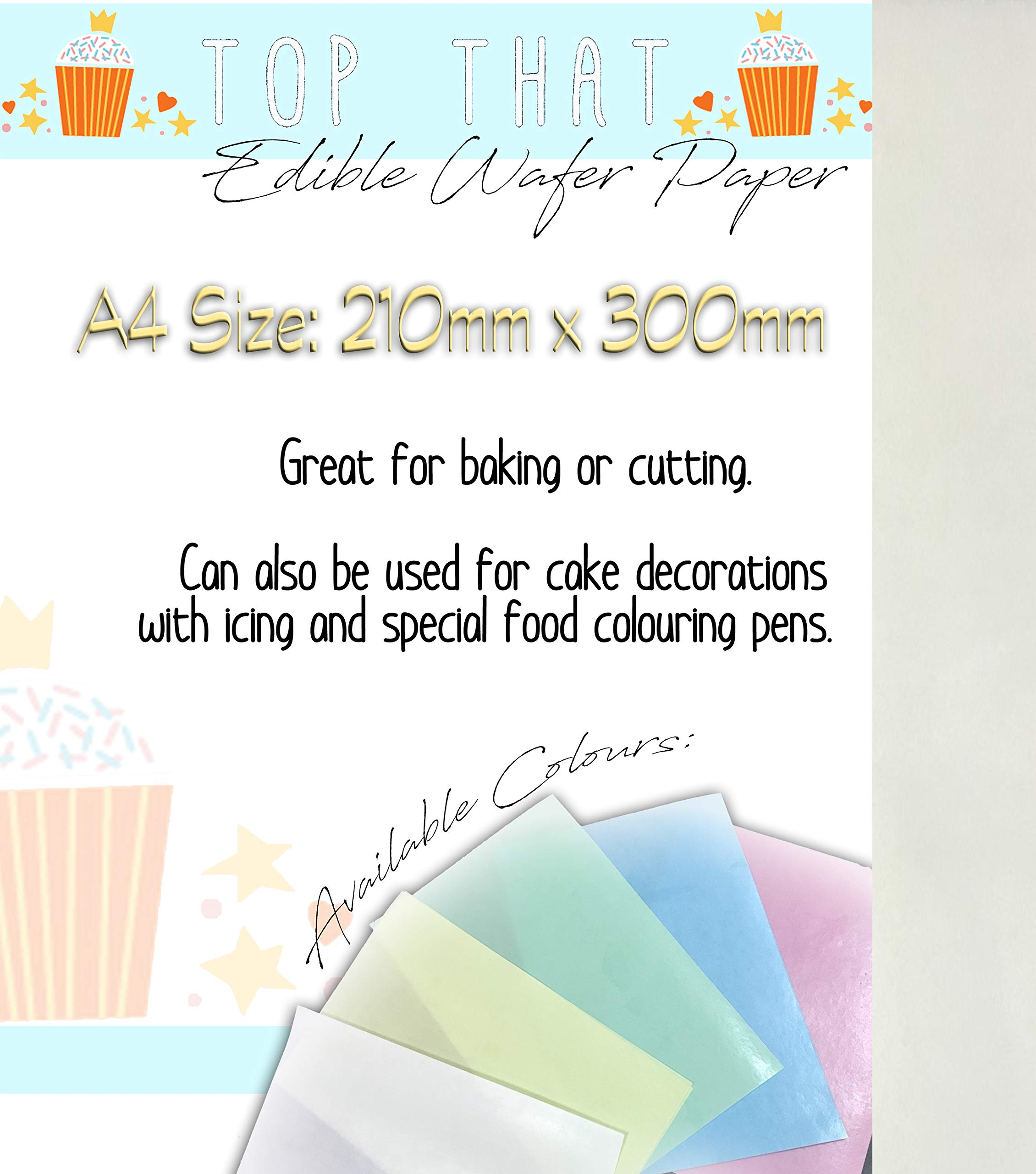 Edible Wafer Rice Paper 25 Sheets A4 sized plain white