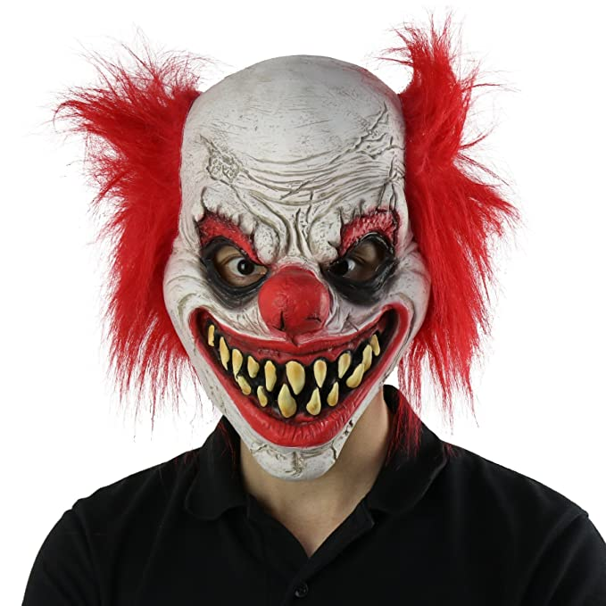 fantasyparty halloween creepy mask costume party latex scary clown mask joker mask