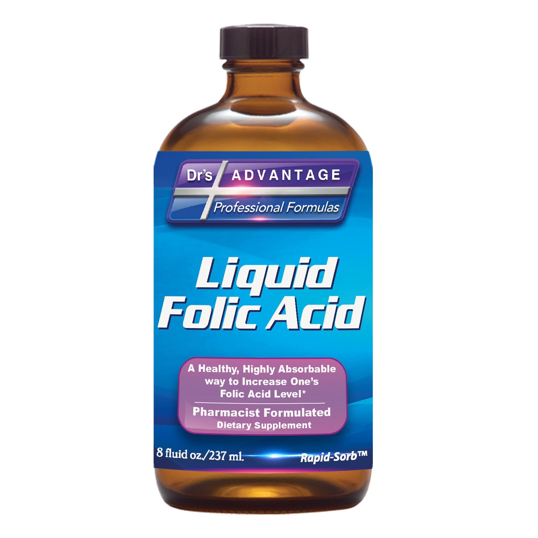 Dr's Advantage - Liquid Folic Acid 800 MCG, 8 oz. [Health & Beauty]