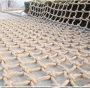 Hemp Rope net Multifunctional Hand Woven Retro Grid Net Cargo Rope net for Kids Climbing Protection Fence Decor Net Outdoor Climbing Net