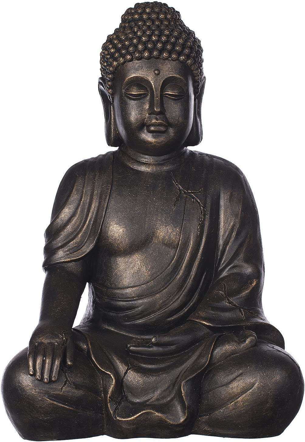 Diseño de Buda B4016S de bronce o de piedra de colour gris, figura de Buda XL 54 cm de alto, para uso en interior de nosotros para exteriores, diseño de Estatua de Buda de tamaño grande, de Busto de,