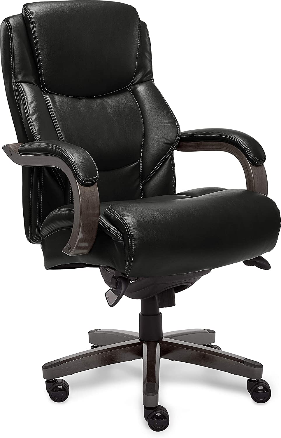 LaZBoy Delano Executive Office Chair, Big And Tall, Black And Gray