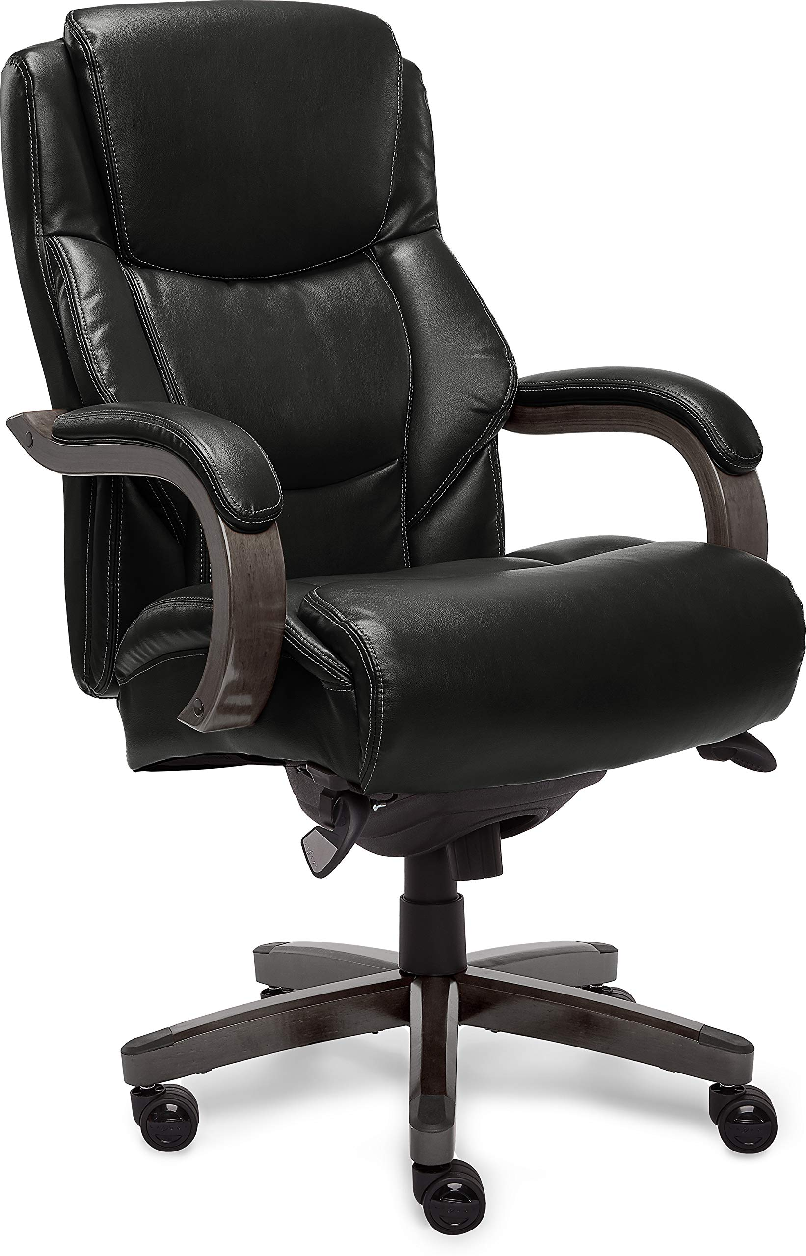 LaZBoy CHR10045B Delano Executive Office Chair, Big And Tall, Black And Gray by La-Z-Boy