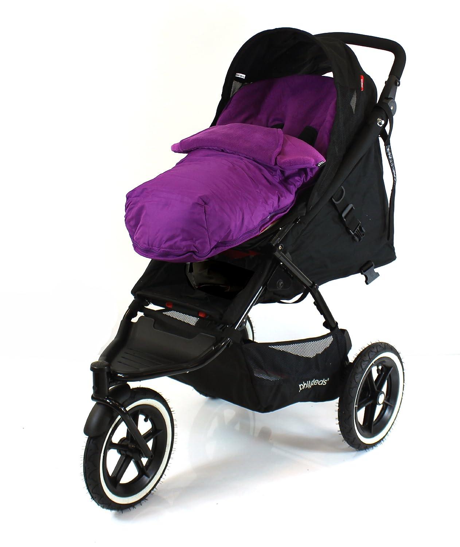 Universal Luxury Footmuff Cocoon Purple For Phil /& Teds Double Kit//Navigator // Explorer//Dash // Dot//Vibe Plum