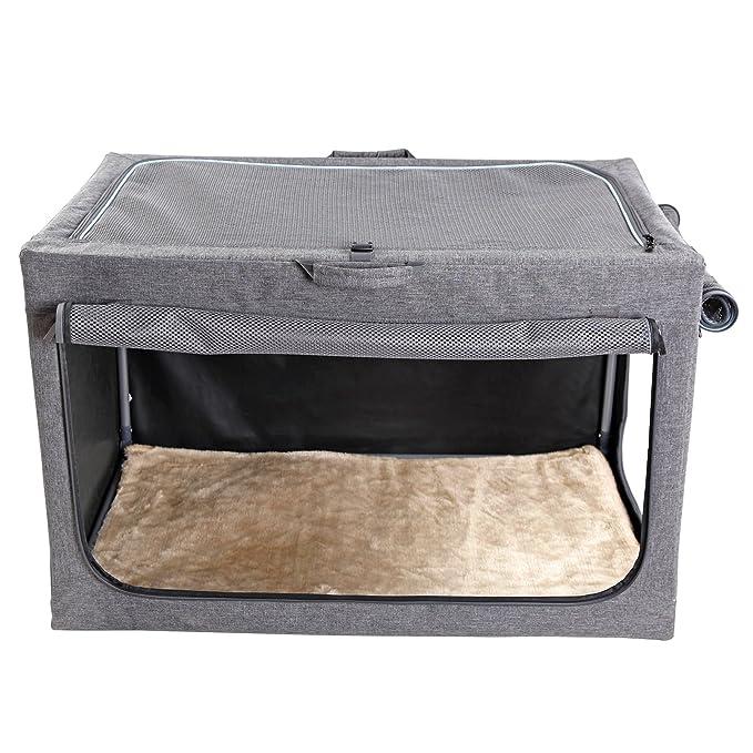 Casa para perros de Petsfit, portátil y plegable, suave, caseta para mascotas, para interiores y exteriores: Amazon.es: Productos para mascotas