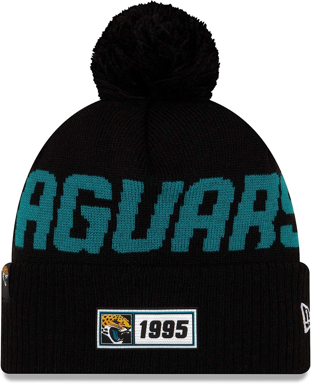 New Era NFL Jacksonville Jaguars Bobble 2018//2019 Sport Knit Sideline Bonnet