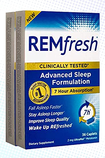 REMfresh 2mg Advanced Sleep Formulation 72 Count Bundle Pack