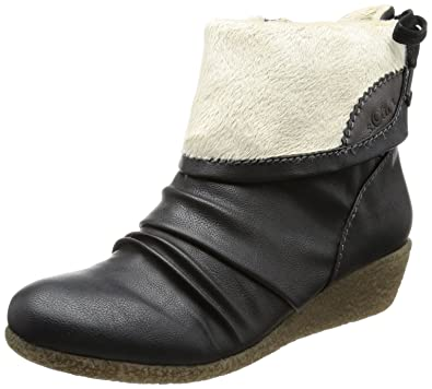 online store 21b0a 564c3 s.Oliver Womens Casual Boots Black Schwarz (BLACK 001) Size ...