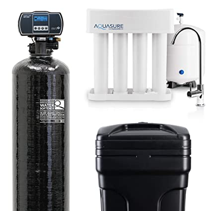 32cb6ed11618 Aquasure Whole House Water Softener Reverse Osmosis Drinking Water Filter  Bundle w Harmony Water Softener   Premier RO system (48