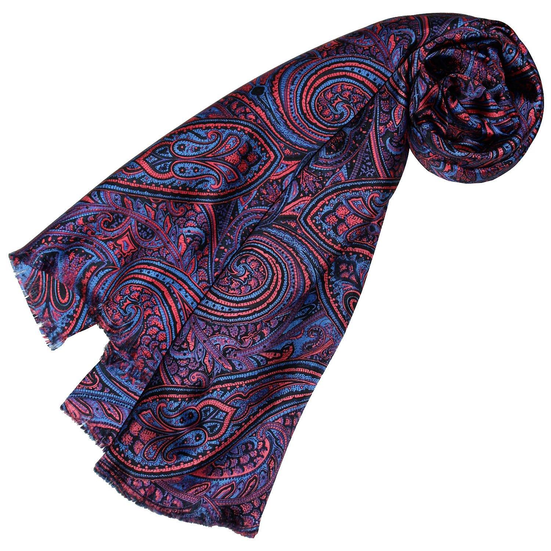 Lorenzo Cana Luxus Herren Schal 100/% Seide in harmonischen Farben bedruckt doppellagig Seidenschal Seidentuch Tuch Dandy Style 30 x 160 cm 8913711