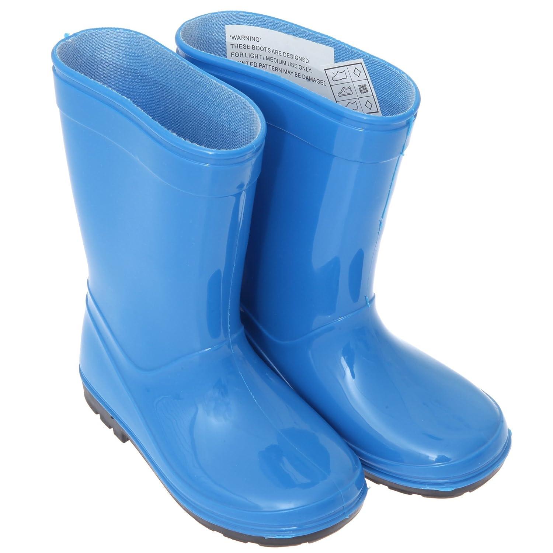 ChildrensKids Unisex Plain WellyWellington Boots Amazonca Shoes   Handbags