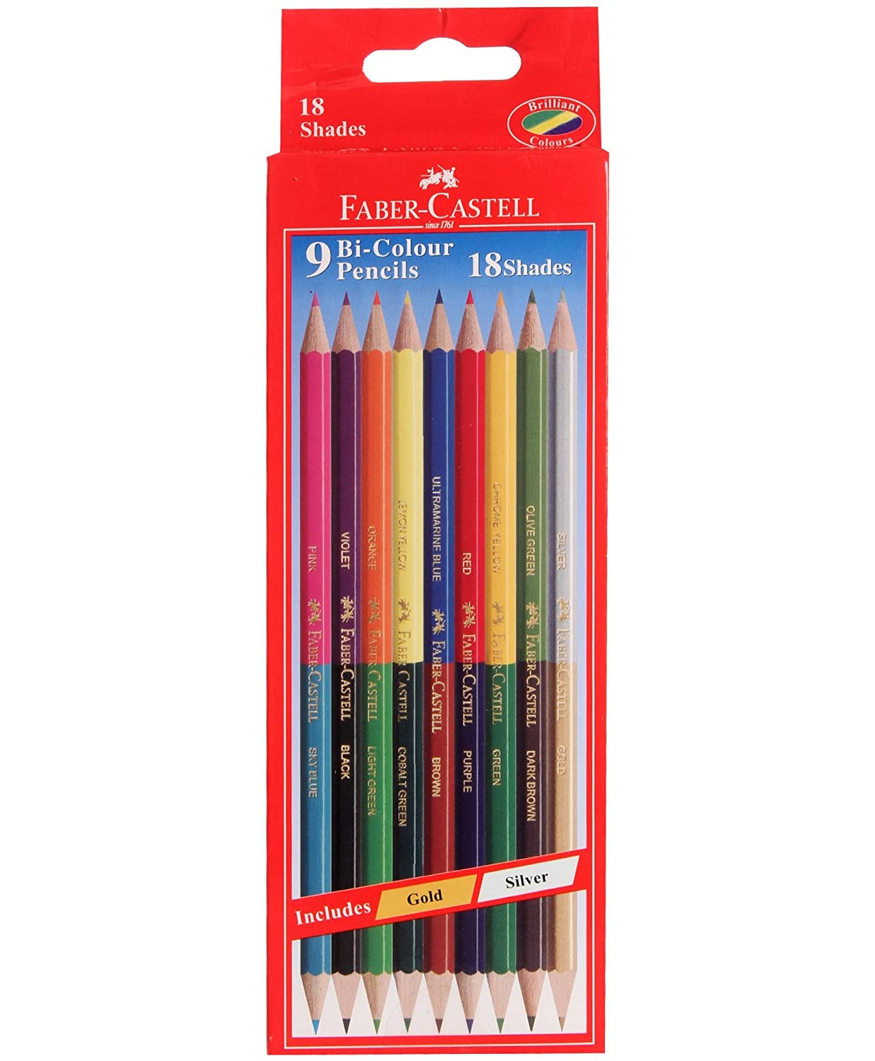 Amazon.com: Faber-castell Dual Sided Bi - Colour Pencils in ...