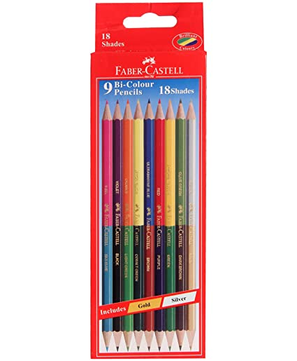 amazon com faber castell dual sided bi colour pencils in