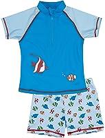 Playshoes Boy's UV Sun Protection 2 Piece Fish Swim Shorts